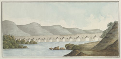 Stone bridge south of Narwar, from the west, 30th Septmeber 1818